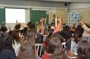 Alunos da E. E. Sidrônia participam de Curso de Iniciação Política