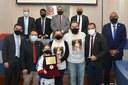 Legislativo Municipal homenageia o atleta mirim Eduardo Fuchs Júnior
