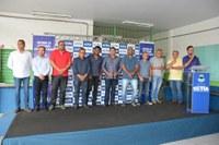 Vereadores participam de solenidade para início de reforma em 32 escolas de Cotia